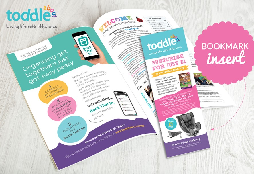 Bookmark Insert in Toddle About Magazine