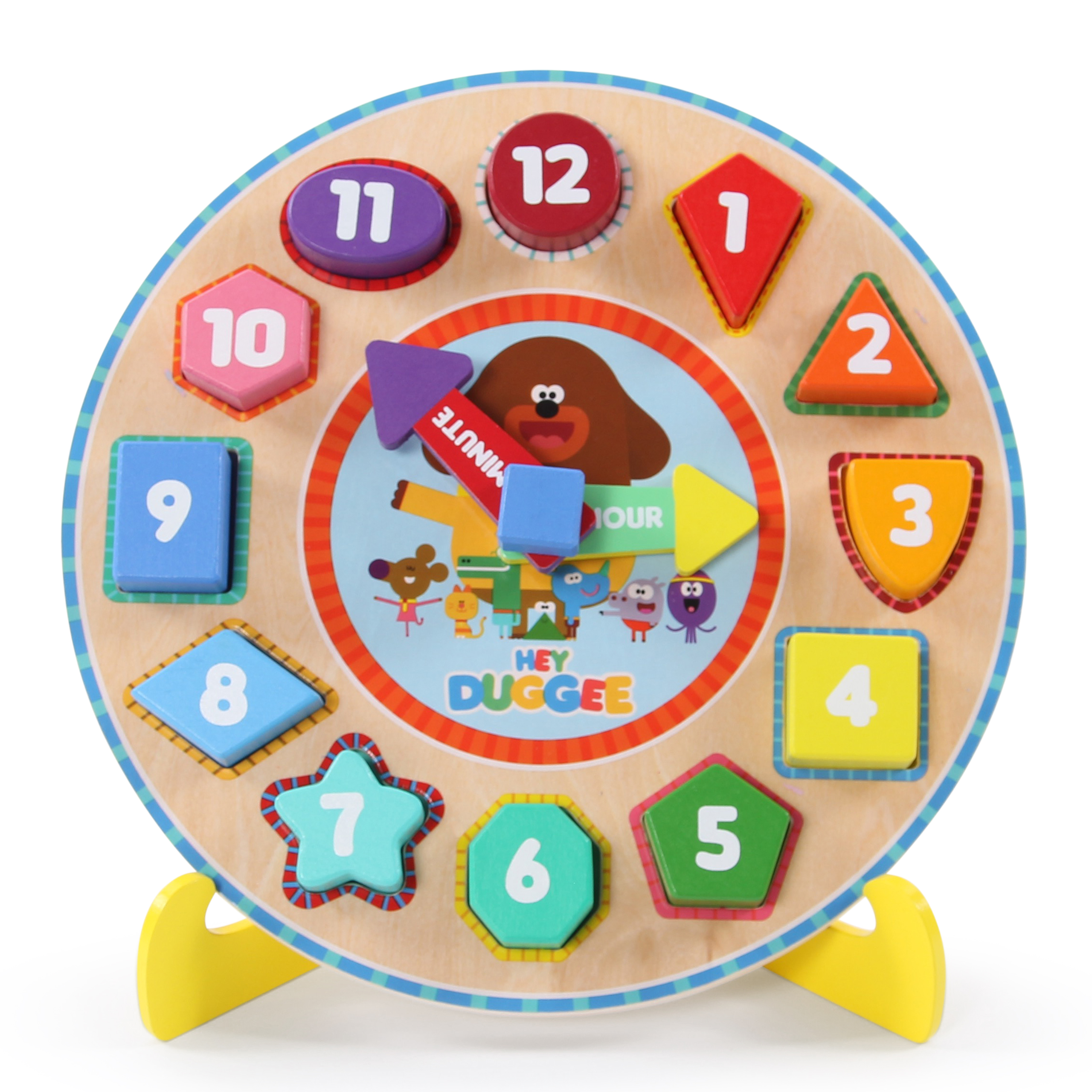 Hey Dugee Wooden Puzzle Clock, worth £12.00