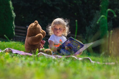 Enjoy story time  in the garden