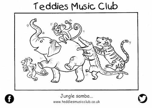 Jungle Samba Colouring in Activity Sheet  image