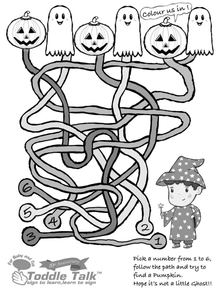 Pumpkin Maze Activity Sheet  image