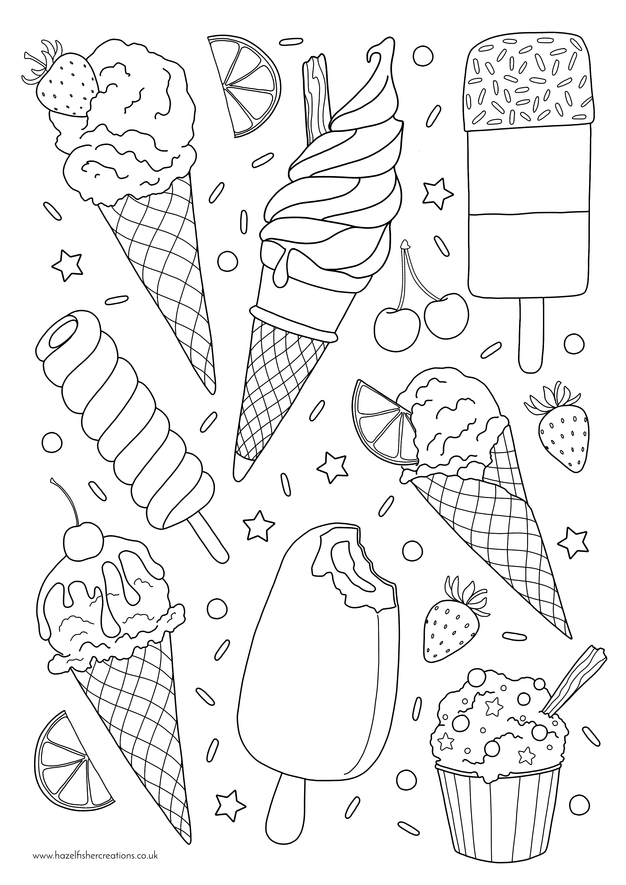 Ice Cream Colouring In Activity Sheet   image