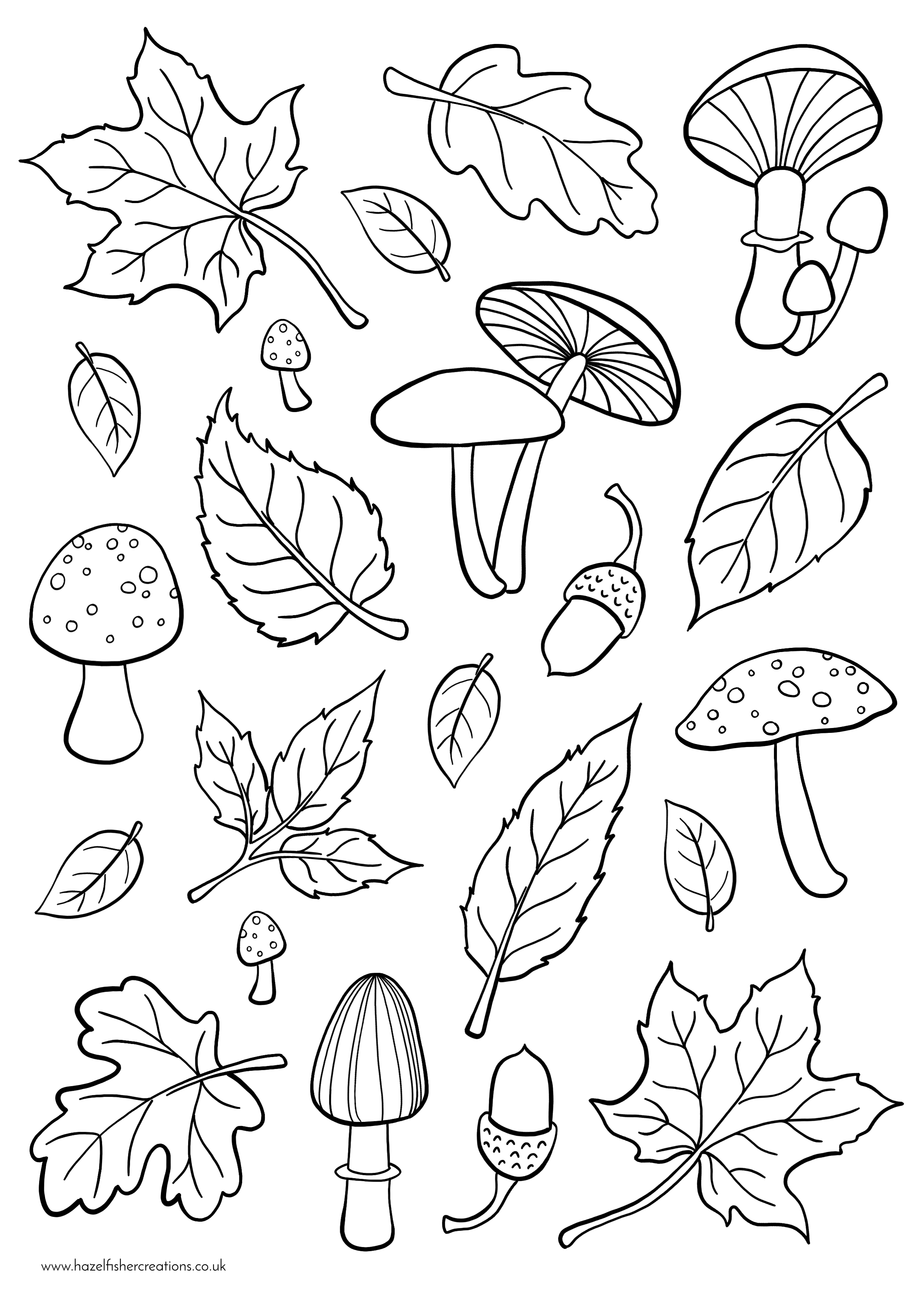Autumn Colouring In Activity Sheet  image