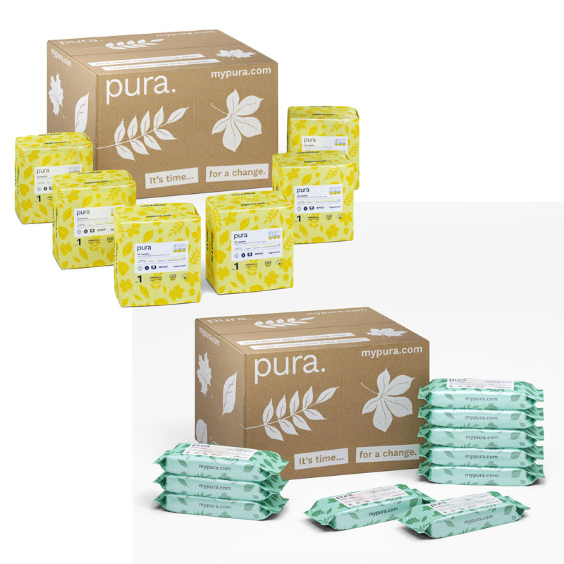 Pura Baby Wipes and Nappies worth £36.74 (for subscription)