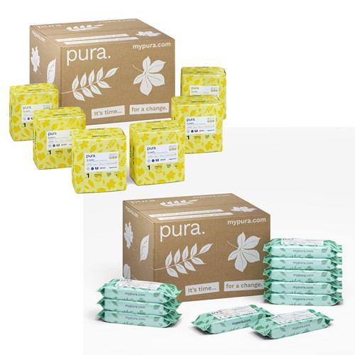 Pura Baby Wipes and Nappies