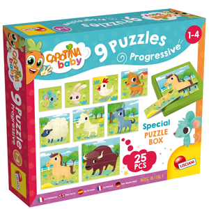Carotina Baby 9 Progressive Puzzles: Farm Edition, worth £8.99