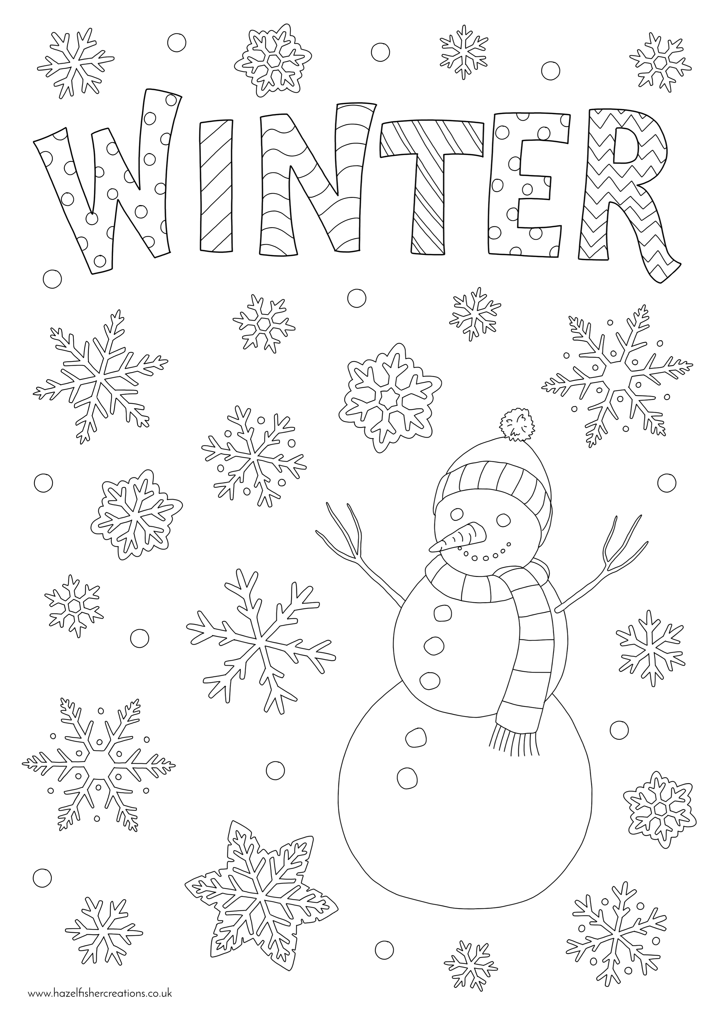 Winter Colouring In Activity Sheet  image