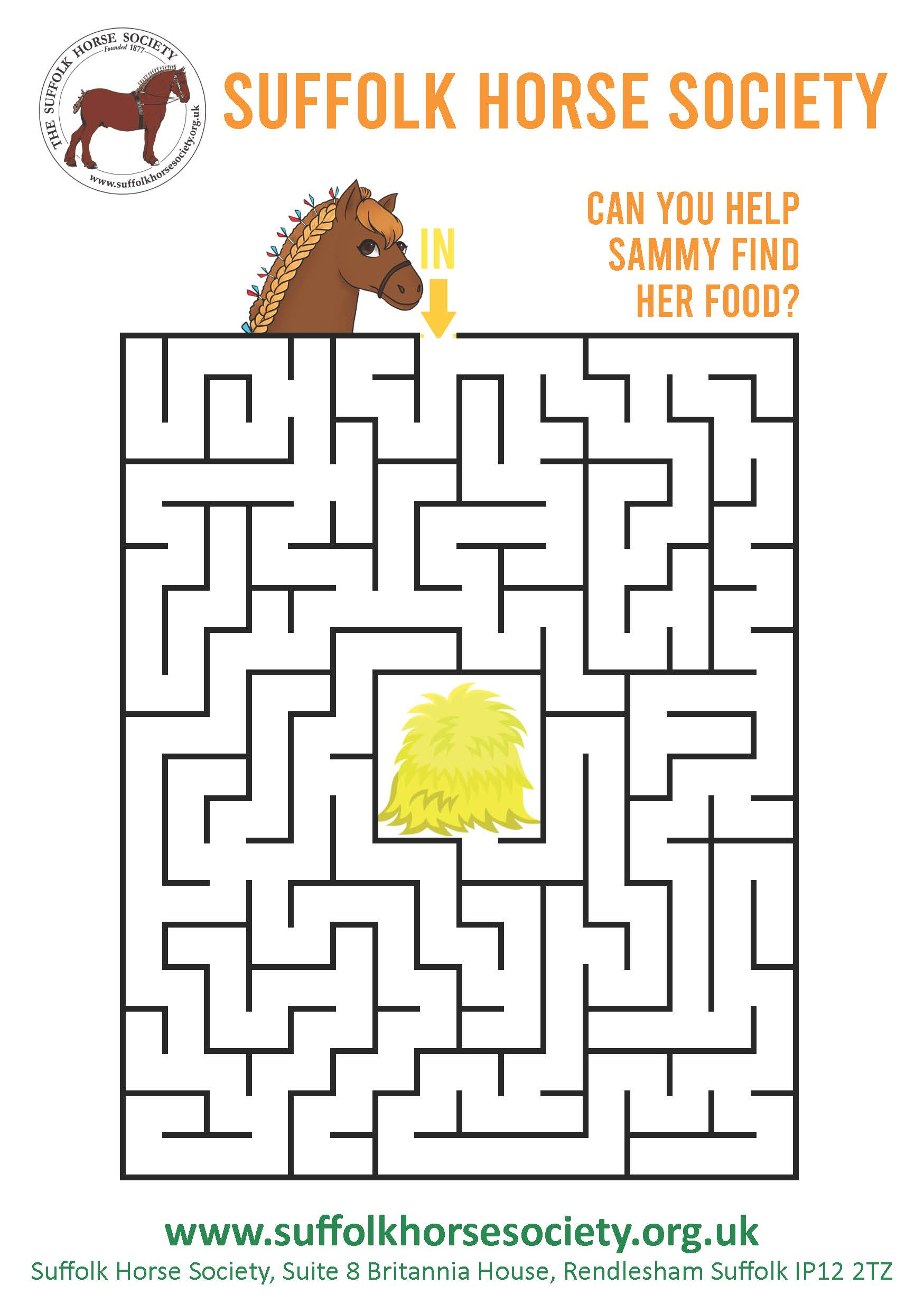 Horse Maze Activity Sheet  image
