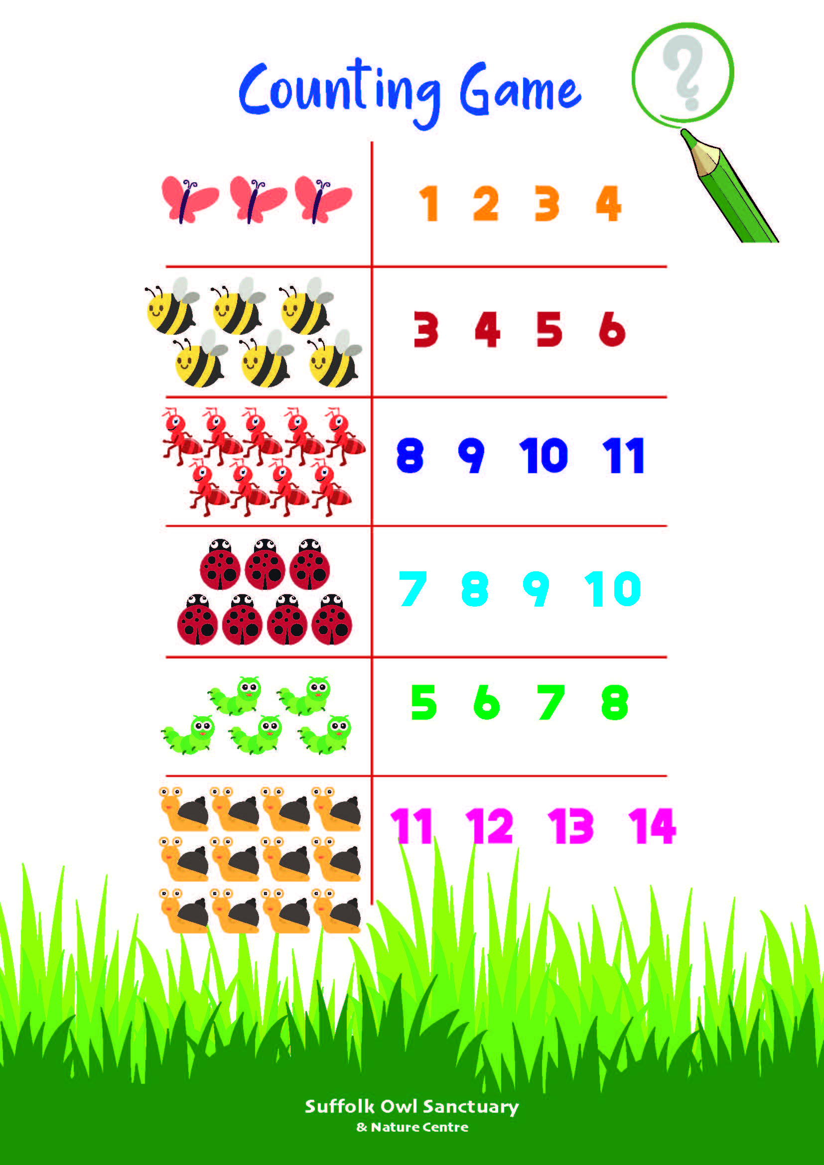 Counting Game Activity Sheet  image