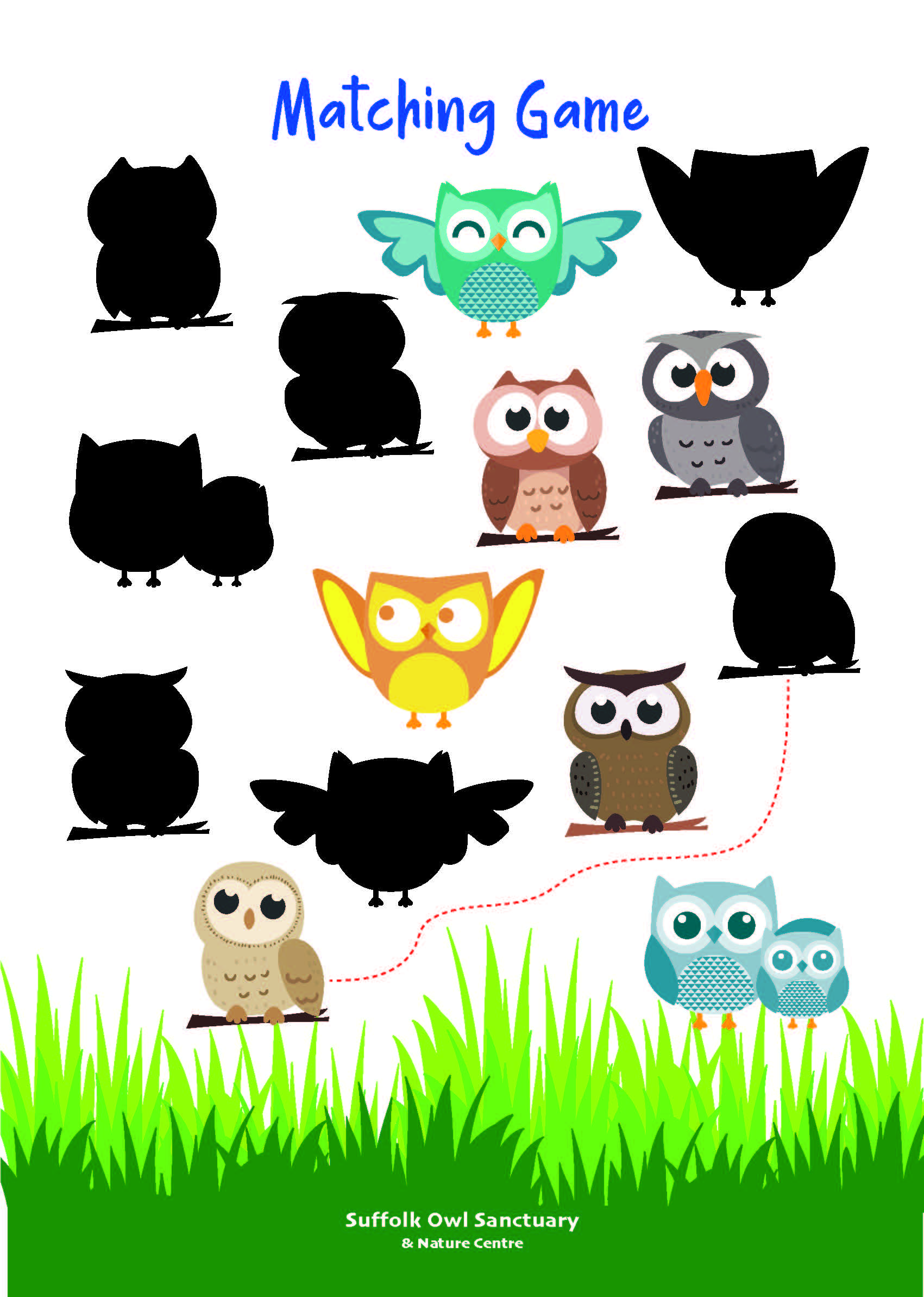 Owl Matching Game Activity Sheet  image