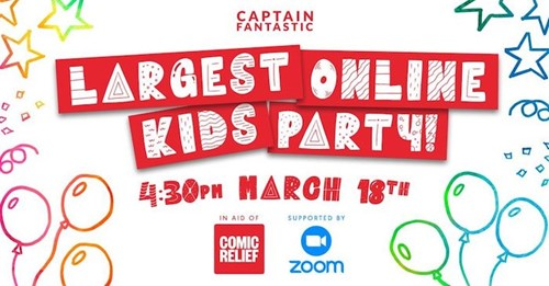 Largest Online Kid's Party in aid of Comic Relief: Red Nose Day 2021  image