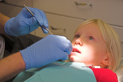 Child scared of dentist