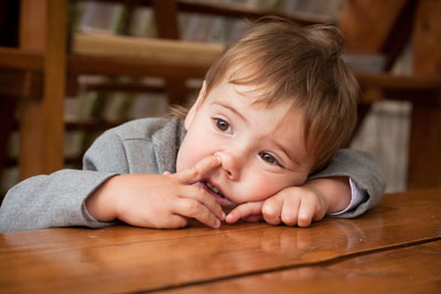 Children will often perform their favourite embarrassing habits when they are bored.