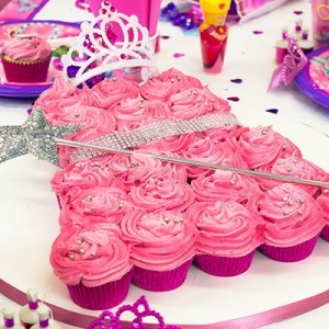 princess cupcake cake-blog