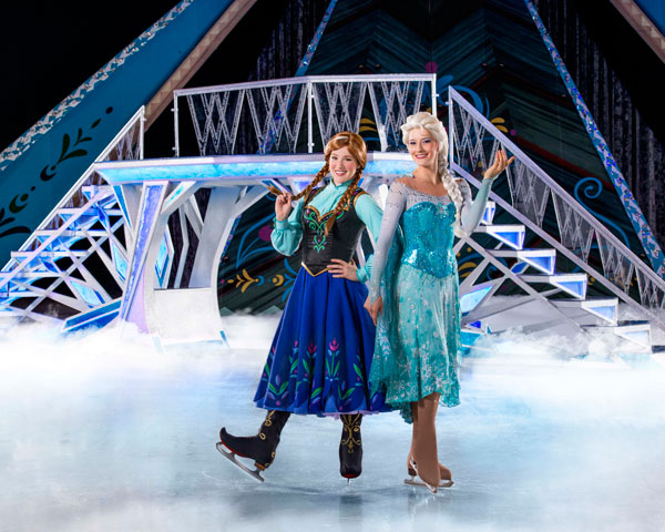 Elsa and Anna in Disney's Frozen on Ice