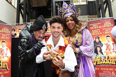 Paul Nicholas, Sheila Ferguson and Jaymi Hensley star in this years Pantomime at Royal and Derngate, Northampton