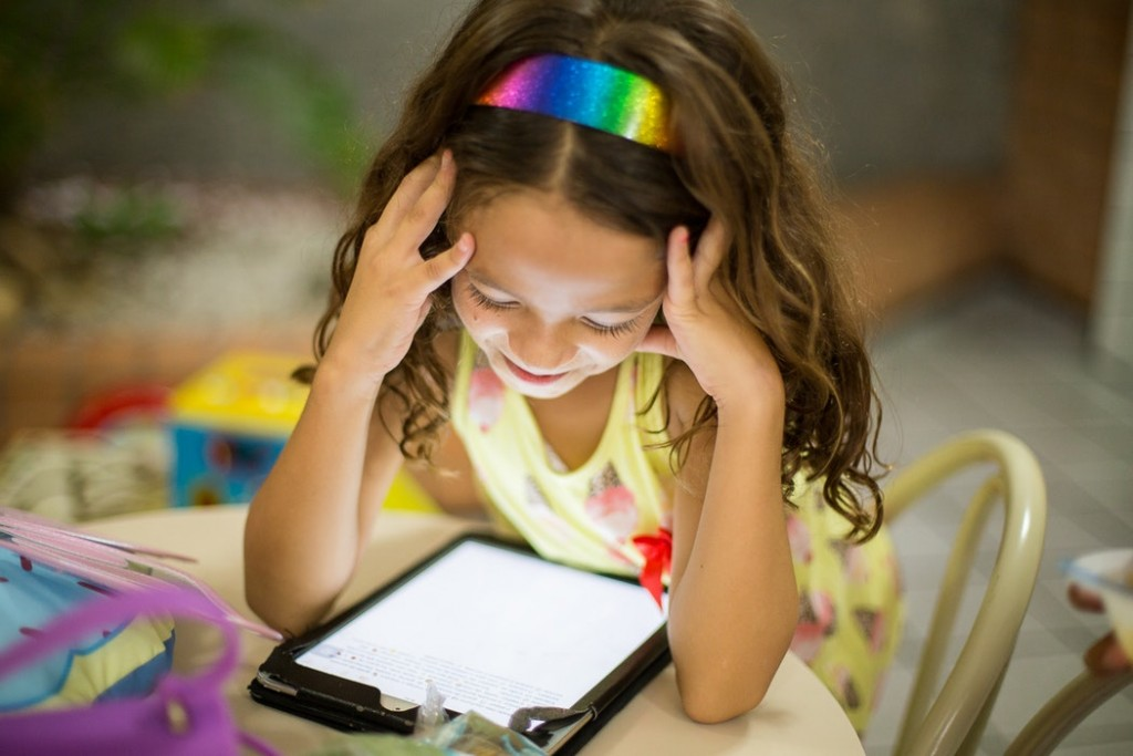17% of parents admit that they use a device every day to keep their kids calm in social situations.