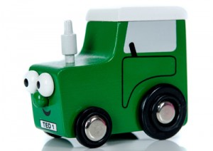 Mini Tractor Ted Wooden Toy