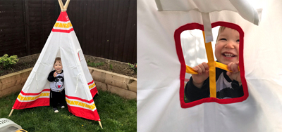 Review: Hape Teepee Tent, worth £64.99  image